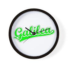 Retro Galilea (Green) Wall Clock