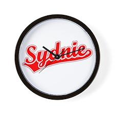 Retro Sydnie (Red) Wall Clock