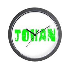 Johan Faded (Green) Wall Clock