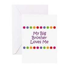 My Big Brother Loves Me Greeting Cards (Pk of 10)