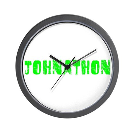 Johnathon Faded (Green) Wall Clock