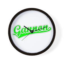 Retro Gannon (Green) Wall Clock