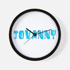Jovanny Faded (Blue) Wall Clock