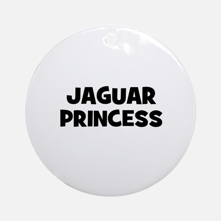 Jaguar princess Ornament (Round)