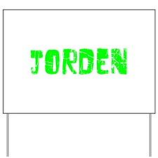 Jorden Faded (Green) Yard Sign