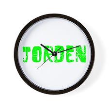 Jorden Faded (Green) Wall Clock
