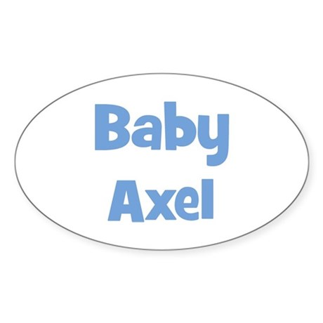 Baby Axel (blue) Oval Sticker