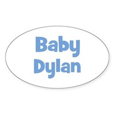 Baby Dylan (blue) Oval Decal