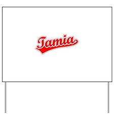 Retro Tamia (Red) Yard Sign