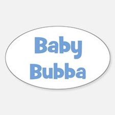Baby Bubba (blue) Oval Decal