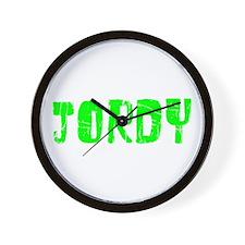 Jordy Faded (Green) Wall Clock