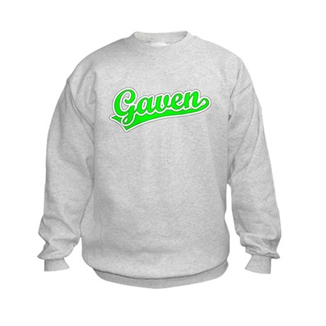 Retro Gaven (Green) Kids Sweatshirt