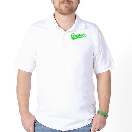 Retro Gaven (Green) Golf Shirt