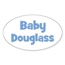 Baby Douglass (blue) Oval Decal