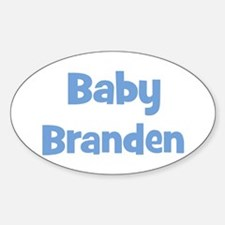Baby Branden (blue) Oval Decal