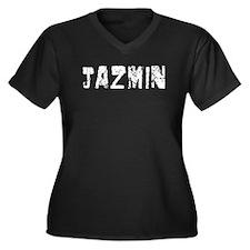 Jazmin Faded (Silver) Women's Plus Size V-Neck Dar