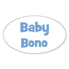 Baby Bono (blue) Oval Decal