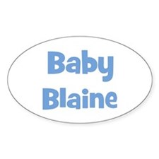 Baby Blaine (blue) Oval Decal