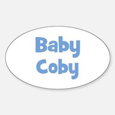 Baby Coby (blue) Oval Decal