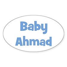 Baby Ahmad (blue) Oval Decal