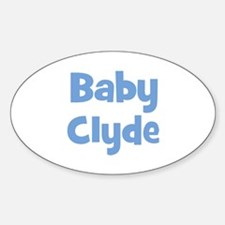 Baby Clyde (blue) Oval Decal