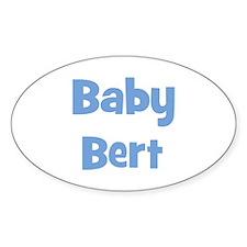 Baby Bert (blue) Oval Decal