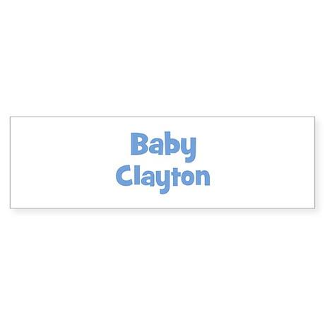 Baby Clayton (blue) Bumper Sticker