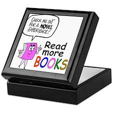 Cute library cartoon Keepsake Box
