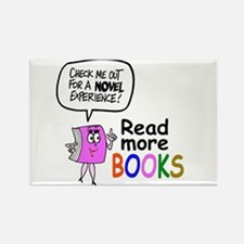 Cute library cartoon Rectangle Magnet