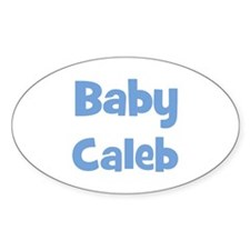 Baby Caleb (blue) Oval Decal