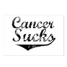 Cancer Sucks (Black) Postcards (Package of 8)