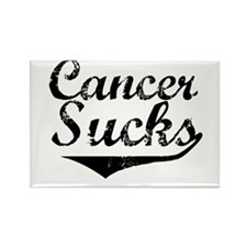 Cancer Sucks (Black) Rectangle Magnet
