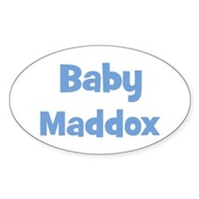 Baby Maddox (blue) Oval Decal