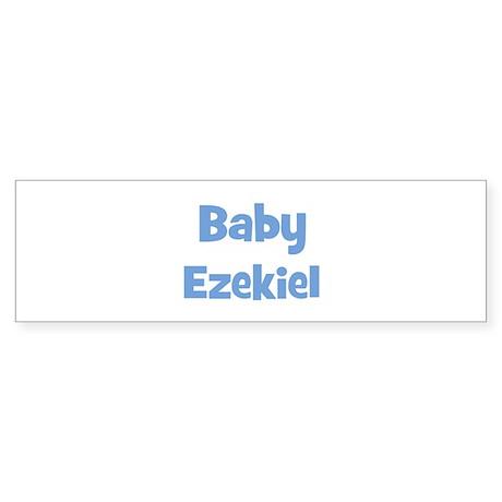 Baby Ezekiel (blue) Bumper Sticker