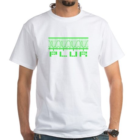 Green PLUR White T-Shirt