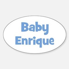 Baby Enrique (blue) Oval Bumper Stickers