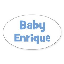 Baby Enrique (blue) Oval Decal