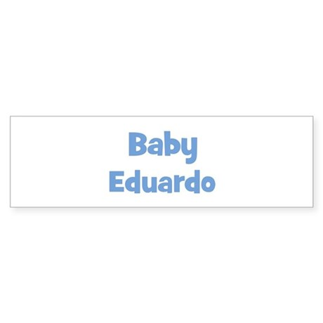Baby Eduardo (blue) Bumper Sticker