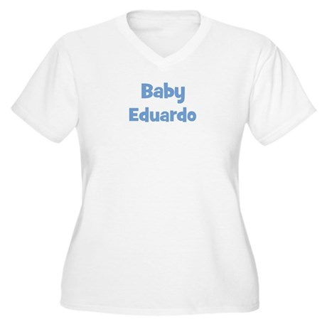 Baby Eduardo (blue) Women's Plus Size V-Neck T-Shi