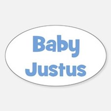 Baby Justus (blue) Oval Decal