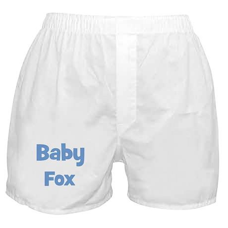 Baby Fox (blue) Boxer Shorts