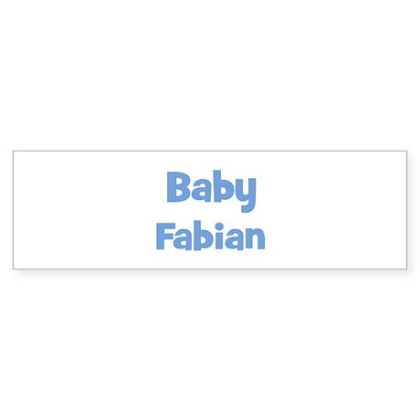 Baby Fabian (blue) Bumper Sticker