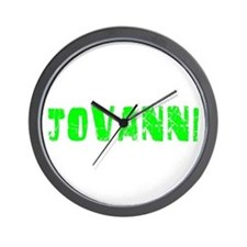Jovanni Faded (Green) Wall Clock