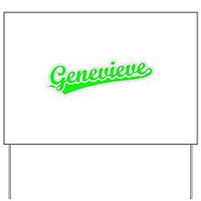 Retro Genevieve (Green) Yard Sign