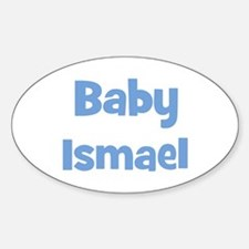 Baby Ismael (blue) Oval Decal
