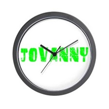 Jovanny Faded (Green) Wall Clock