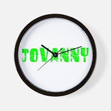 Jovanny Faded (Green) Wall Clock