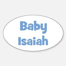 Baby Isaiah (blue) Oval Decal