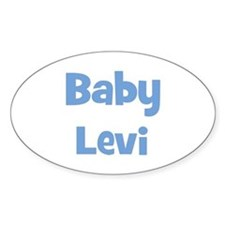 Baby Levi (blue) Oval Decal