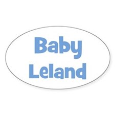 Baby Leland (blue) Oval Decal